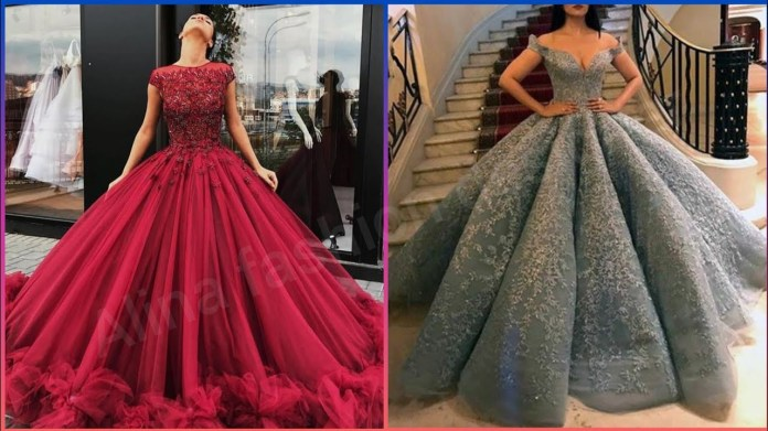 LATEST OFF SHOULDER BALL GOWN DRESSES COLLECTION 2020//PROM DRESS //EVENING  DRESS - YouTube