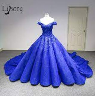 Dubai Royal Blue Floral Prom Dresses 2018 Lace Pearls Crystal Puffy Ball Gowns Saudi Arabic Long Prom Gowns Abendkleider - buy at the price of $355.83 in aliexpress.com | imall.com