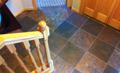 Slate floor tile installation in Lino Lakes, MN