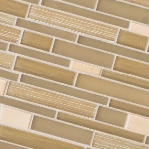 Flash linear glass mosaic tile by Emser Tile