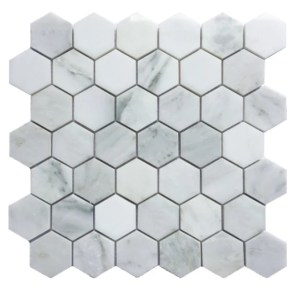 Greecian marble hex 2 inch mosaic decorative tile
