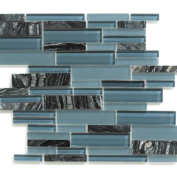 Synergy glass and stone mosaic tile multisize mix DC0037
