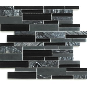 Synergy glass and stone mosaic tile multisize mix DC0043
