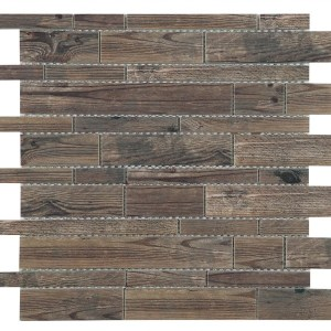 Synergy glass wood look mosaic DC0038