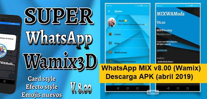 descargar whatsapp mix apk 8.00