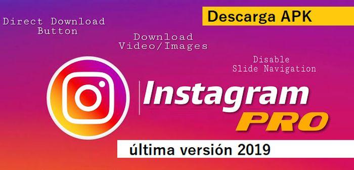 descargar instagram pro apk 2019