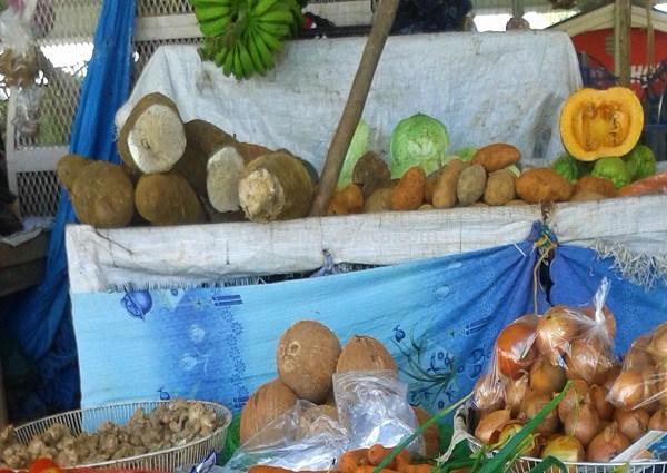 Gemüse vom Bauernmarkt in Black River auf Jamaika