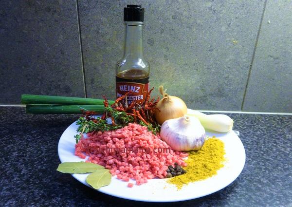 Zutaten fuer Jamaikanische Beefpatties