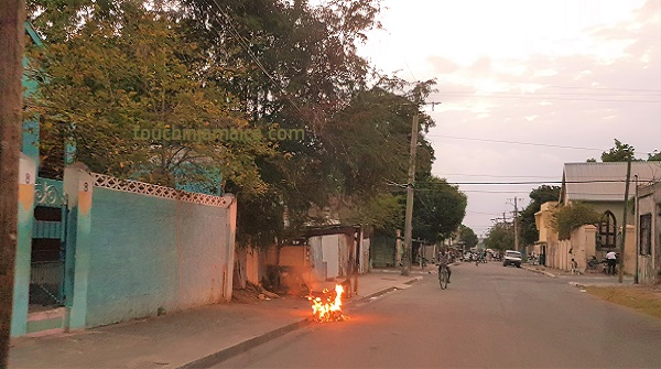 Strasse in Downtown Kingston Jamaika