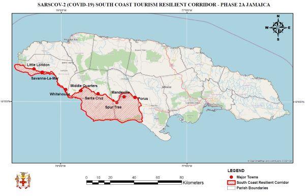 West-und Südküste Jamaika Resilient-Corridor