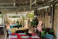Terasse des Lobster Bowl Restaurant in Rio Bueno/Jamaika