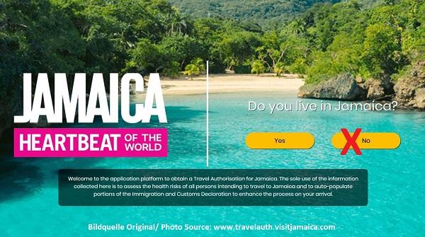 Ausfüllhilfe zur Reiseerlaubnis für Jamaika