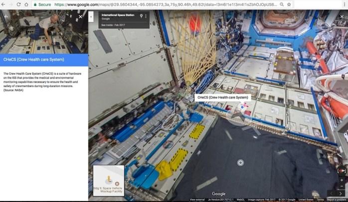 Street View_ISS_US Lab Module (Destiny)- CHeCS_web2016_8_nowat