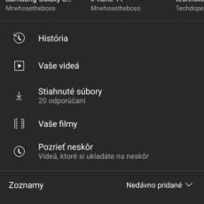 YouTube filmy a relácie