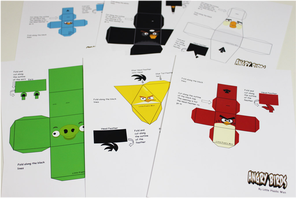 Angry Bird Evolution Paper Cutouts