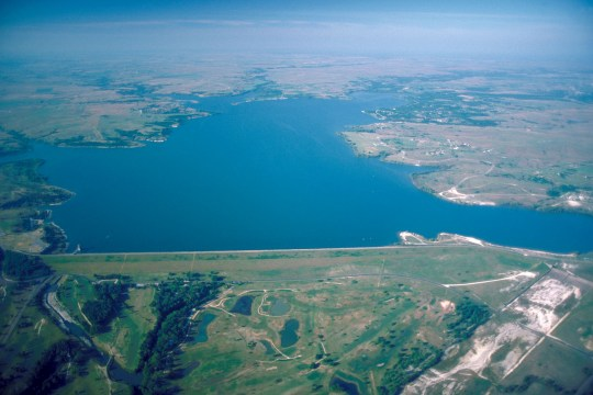 Benbrook_Lake_and_Dam arieal