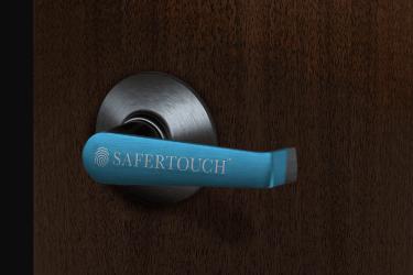Antimicrobial door handle wrap