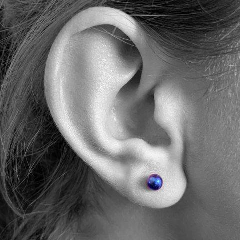 Large Ball Stud Earring. 100% Hypoallergenic Titanium Earrings.