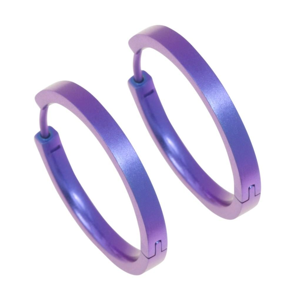 Hypoallergenic hoop earrings medium on TouchTitanium.com