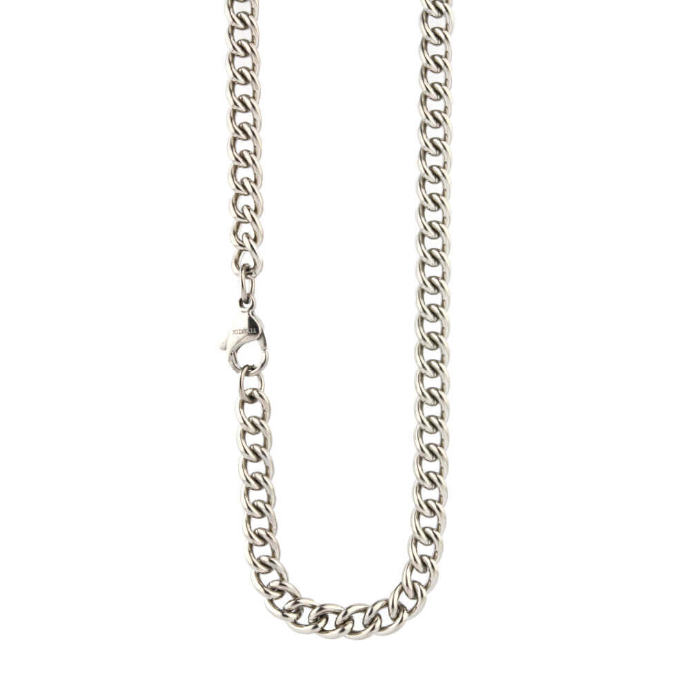 Medium titanium comfort chain on TouchTitanium.com <p>Strong and comfortable. Titanium chain made to fit in with your lifestyle. This is a solid mid-weight chain, designed for every day wear. Made from 100% hypoallergenic titanium and available in a range of sizes to choose from, fitted with durable titanium clasps.</p>