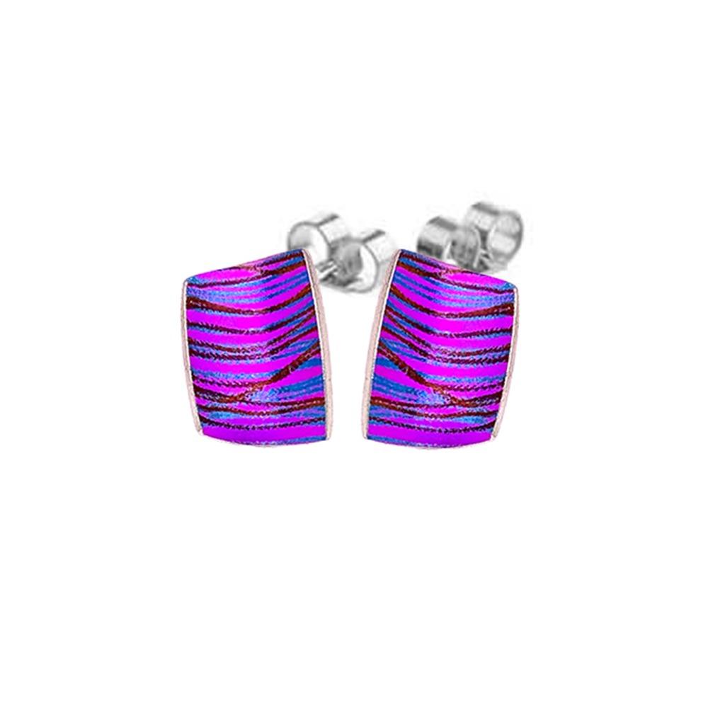 Pink Titanium artist stud earrings