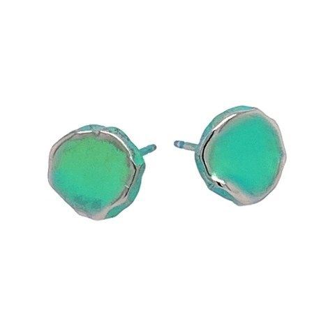 Green Titanium studs. Hypoallergenic jewellery from TouchTitanium.com