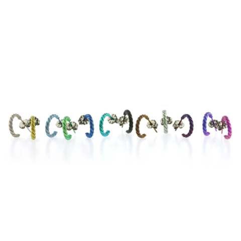 Group shot of Hypoallergenic titanium hoop earrings