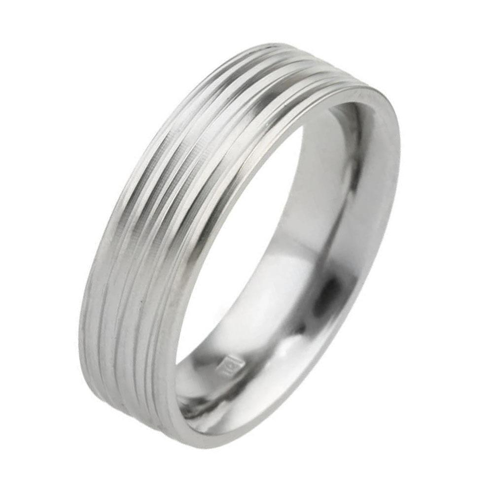 Coloured hypoallergenic titanium wedding ring