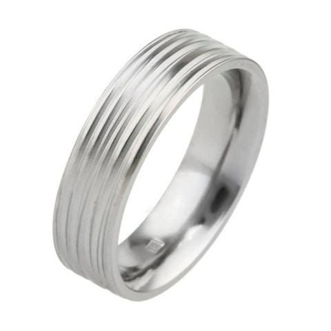 Coloured hypoallergenic titanium wedding ring