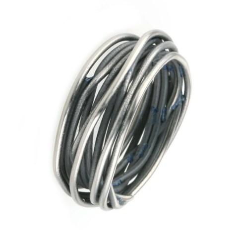 Black twisted vine ring.