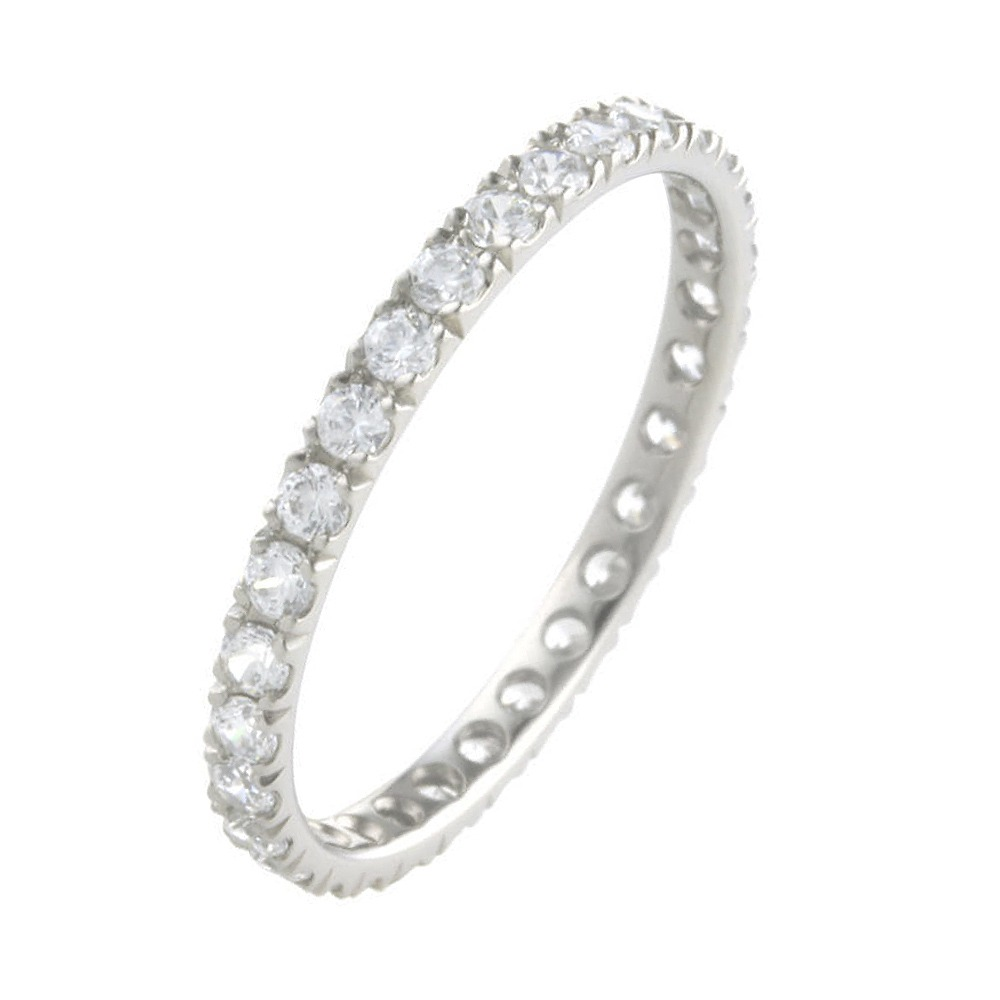 Beautiful titanium eternity ring hypoallergenic and skin friendly with diamonds