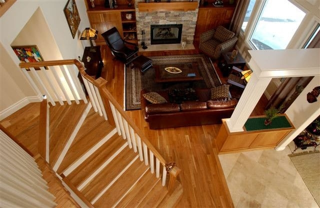 Hardwood Stairs Treads Cladding Touchwood Flooring | Wedge Shaped Carpet Stair Treads | Beige | Spiral Stairs | Wood | Adhesive Carpet | Flooring