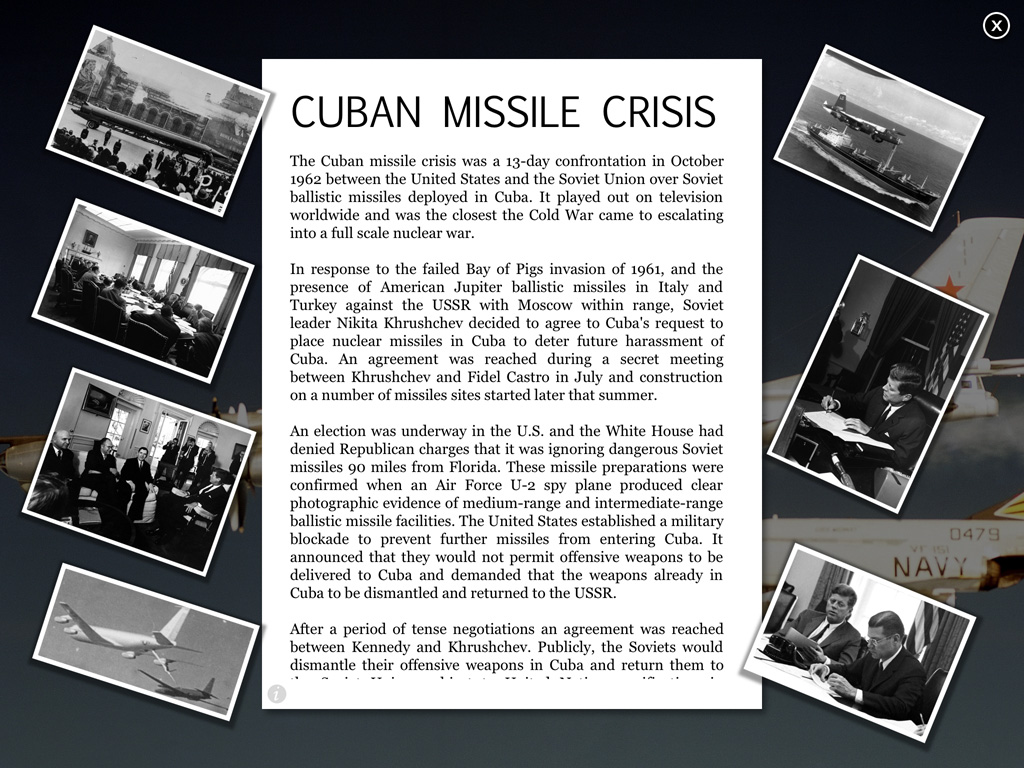 Cold War Interactive Timeline App For Ipad