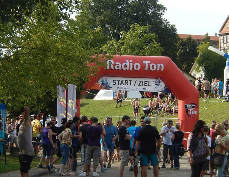 Motorman Run Neuenstadt, Start/Zielbereich nach dem Rennen