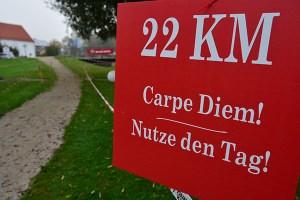 Kilometerbezeichnung LimesRun Bad Gögging
