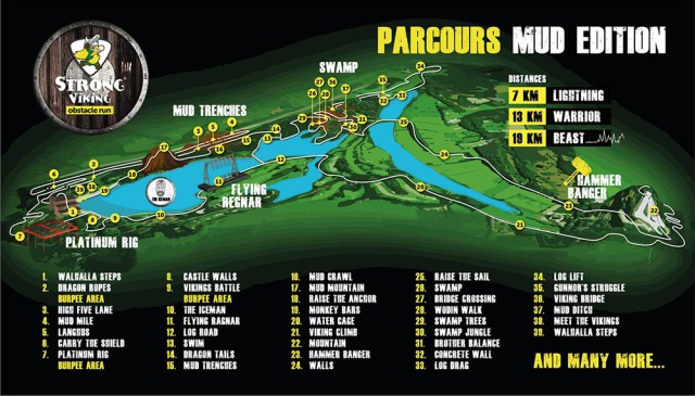 Strong Viking Obstacle Run 2015, Mud Edition, Parcours