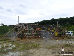 Mud Masters Obstacle Run 2015, Hindernis Net Jump