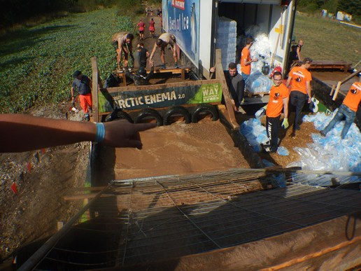 Hindernislauf Bayern, Tough Mudder Süddeutschland 2015, Hindernis Artic Enema 2.0 Start