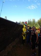 Hindernislauf Bayern, Tough Mudder Süddeutschland 2015, Hindernis Holz vor der Hütte