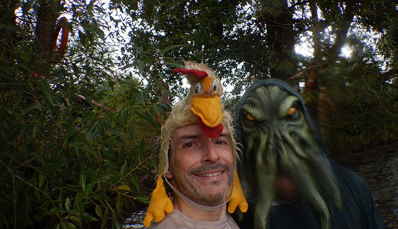 Hindernislauf Bayern, Runterra 2015, Selfie Seemonster mit Tough Chicken