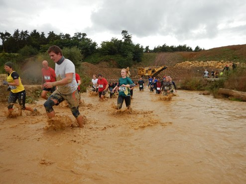 Hindernislauf Hessen, Bad Wolf Dirt Run 2015, Hindernis Watergate