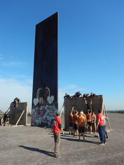 Hindernislauf Nordrhein-Westfalen, XLETIX Challenge Ruhrgebiet 2015, Hindernis Wonder Wall 3.0 Schurenhalde