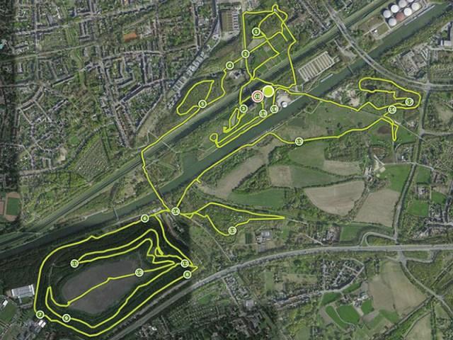 Hindernislauf Nordrhein-Westfalen, XLETIX Challenge Ruhrgebiet 2015, Streckenverlauf