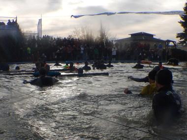 Hindernislauf Thüringen, Getting-Tough - The Race 2015, Rudolstadt, Saisonfinale Signal Iduna Arena Tauchbecken
