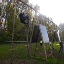 Strong Viking Obstacle Run brother edition 2015, Hindernis Rope Climb XL
