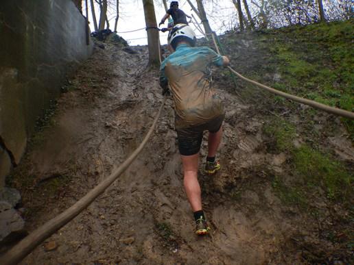 Hindernislauf Belgien, 24H XTREME Team Running 2016, Anstieg zum Netz
