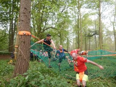 Hindernislauf England, Rat Race Dirty Weekend 2016, Hindernis Trailblazer Netz