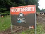 Tough Mudder, Hindernislauf NRW, Hindernis Feuchtgebiet Schild