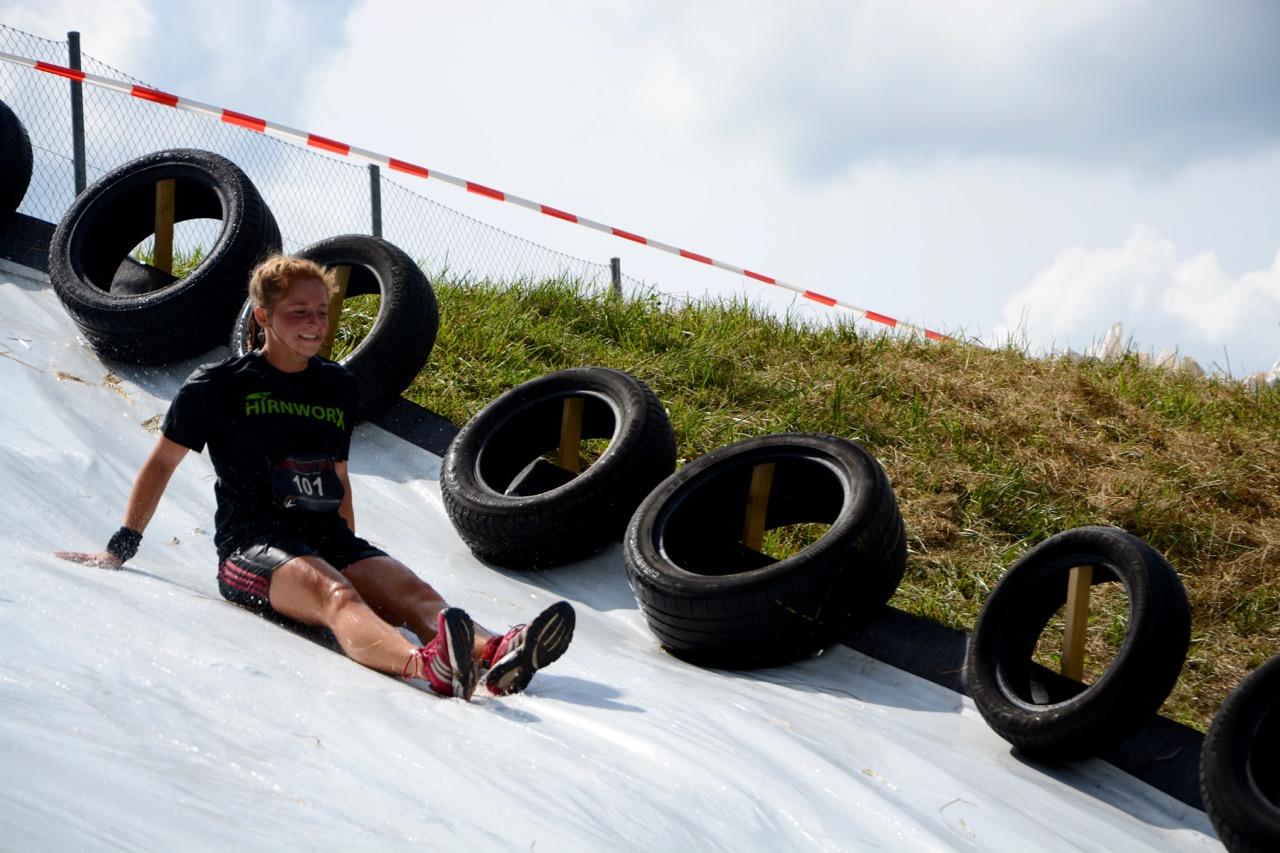 Wrestling Run, Hindernislauf Deutschland, Hindernis Rutsche