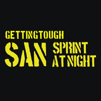 Logo Getting Tough Sprint at Night